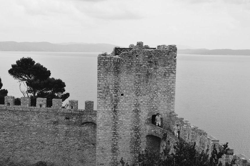 Trasimeno Trasimenolake Umbria Italia Castle Castiglione Del Lago