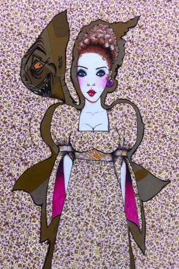 Genskiart Happy Halloween Sixties Art Illustration Bohemian Style Fashionillustration Popart Fineart