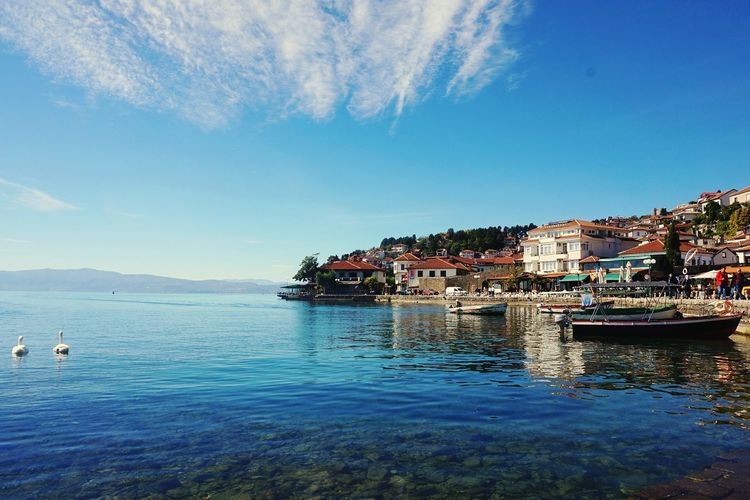 Lake Ohrid Water Reflection Horizontal Landscape Blue Nautical Vessel Outdoors Beauty In Nature No People Nature Scenics Water Reflection Blue Nautical Vessel Horizontal Sea Sky Outdoors Landscape Beauty In Nature Scenics Nature No People Day lake macedonia, lake, touristic, wanderlust, travels,