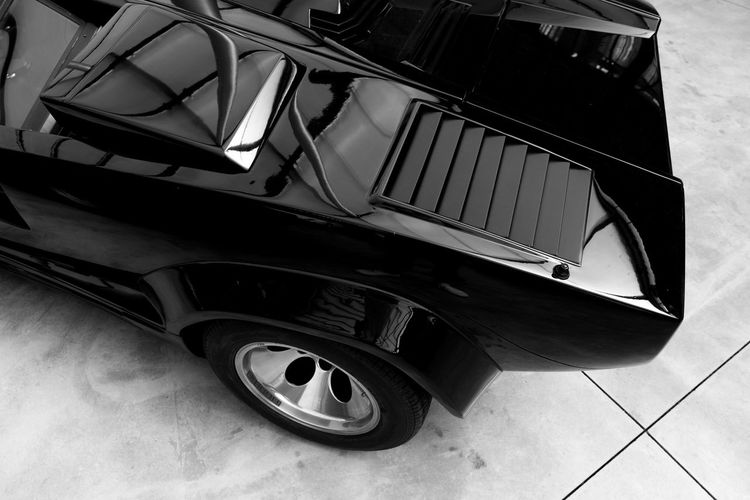 Lamborghini Countach Lamborghini Countach Lamborghini No People Land Vehicle Transportation Car Mode Of Transportation Motor Vehicle Architecture Built Structure Wheel Stationary Retro Styled Metal Arts Culture And Entertainment Day The Past Indoors  High Angle View Close-up