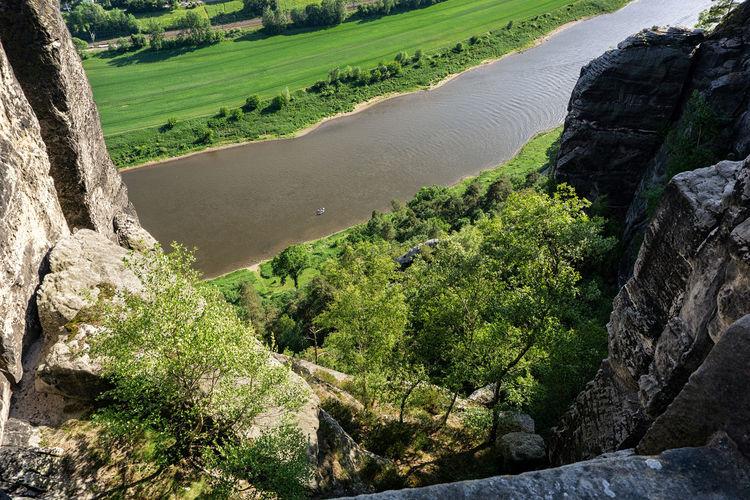River elbe as seen from bastei bridge