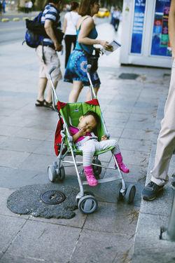 Asian  Baby Baby Stroller Babyboy Babygirl Bicycle Child Childhood Cute Lifestyles People Real People Sleep Sleeping Sleepy Street Street Photography Streetphotography Pastel Power