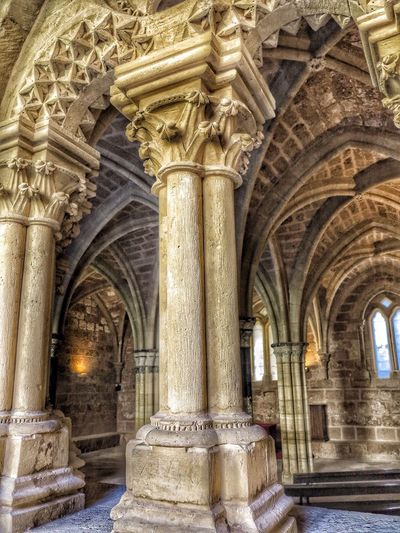 Architecture Architecture_collection Architecturephotography Architecturelovers Architectural Detail Architectural Column Monastery Monasterio De Piedra