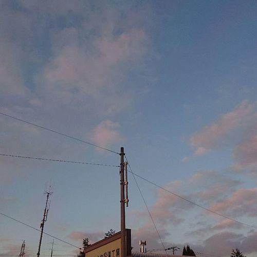 なおphoto 朝陽の反対側 自宅前 いつもの場所から 今朝は暖かい -1℃