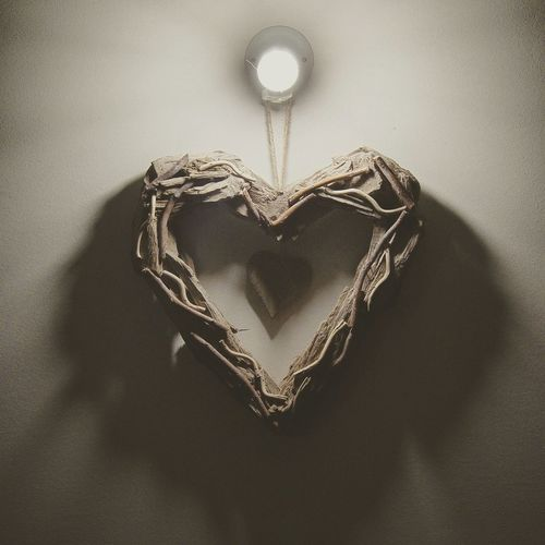 There is a light for us Creative Light And Shadow Heart Light Love Interior Design Handmade Minimal Light And Shadow
