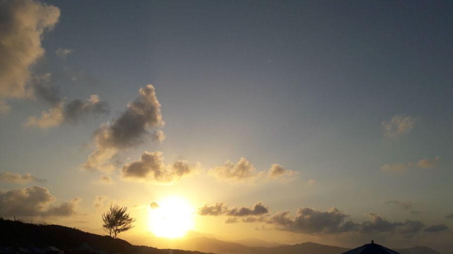 Una hermosa puesta de sol!