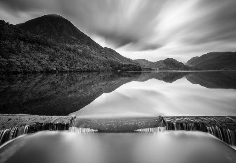 A still morning on Crummock Water Canvas Crummock Water Cumbria Lake District Morning Beauty In Nature Black And White Brochure Lake Landscape Monochrome Mountain Nature No People Outdoors Reflection Scenics Sky Still Tourism Tranquil Scene Tranquility Water Waterfront Wier First Eyeem Photo Lost In The Landscape Lost In The Landscape EyeEmNewHere Go Higher