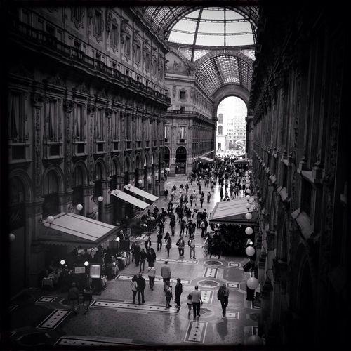 People Walking In Galleria Vittorio Emanuele Ii