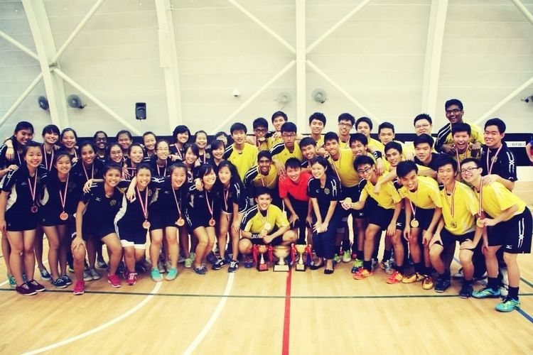 Victoria Junior College Floorball Family