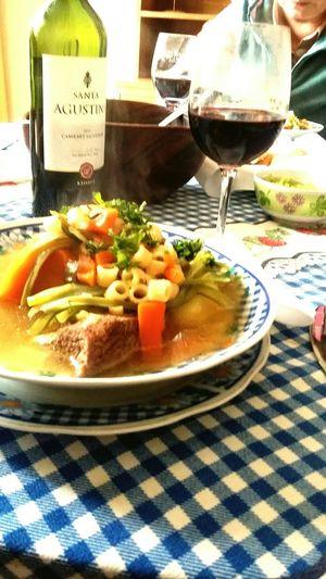 Colorful The Foodie - 2015 EyeEm Awards Food Foodporn Chileanwine Comfortfood Homemade EyeEm Best Shots