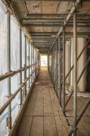 Architecture Construction Day Indoors  Industrial Metal Pipes No People Refurbishment Sunlight The Way Forward Wood Planks