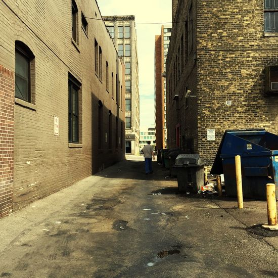 Architecture Building Exterior Built Structure Street City Road Day Outdoors Sky Alley Deterioration Minnesotaphotographer Urbanphotography Streetphotography Alleyway Long Tall - High Footpath Narrow City