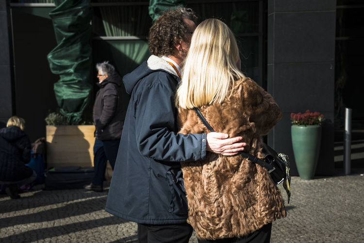one Berlin Colors Couple Berlinale Blond Hair Potsdamer Platz Real People Streetphotography Togetherness Two People Press For Progress