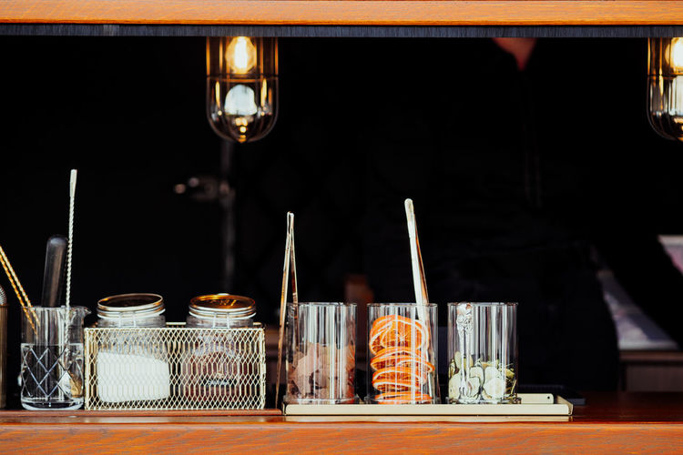 Waiting for my drink... Drinks Sugar Wood Bar Choice Close-up Drink Drinking Glass Focus On Foreground Food And Drink Glass Glass - Material Large Group Of Objects Lemons No People Orange - Fruit Refreshment Side By Side Table Tray Vintage Warm