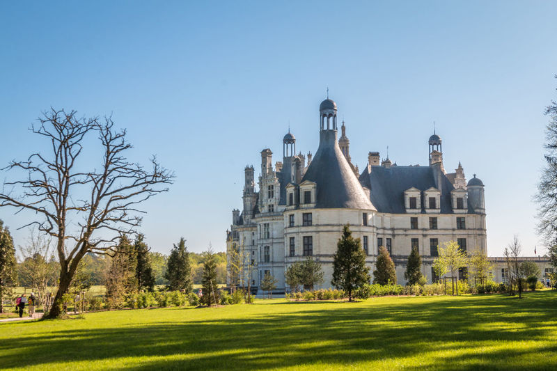 Chateau de chambord by lawn