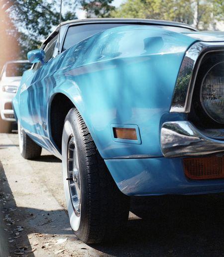Some classic in the Grove Classic Car Vintge Coconut Grove Miami Florida Rolleiflex Portra