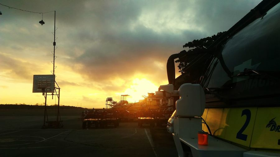 Sunrise, coffee, Silhouette, No People, Outdoors, and fire truck First Eyeem Photo