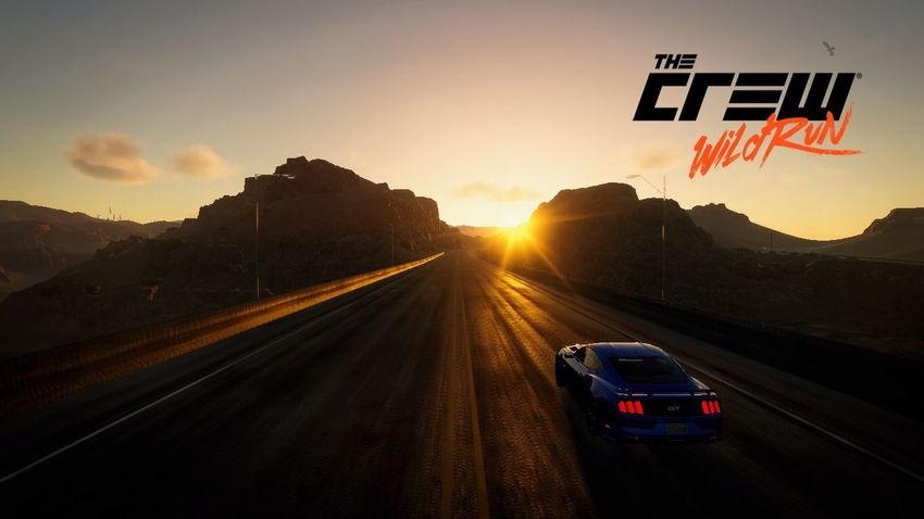 Mustang Sunrise in Ubisofts's The Crew Ubisoft Games Computergames THE CREW Mustang