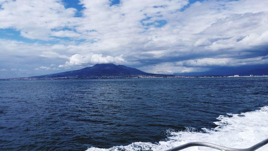 #napoli #Naples #Napoli #enjoy #vesuvio Water Snow Sea Mountain Power In Nature Sky Landscape Cloud - Sky