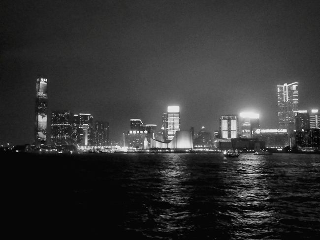 Night Illuminated Urban Skyline Skyscraper Nightlife Victoria Harbour Hong Kong City Hongkonglife Hongkongcollection Hongkongcity HongKong Hongkongphotography No People Hongkongskyline