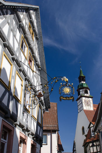Historical timber frame houses and church in Waiblingen Germany Church Church Tower Germany🇩🇪 Historical Building Historical Sights Houses And Homes Architecture Building Exterior Built Structure Day Low Angle View No People Outdoors Place Of Worship Sky Steeplechase Timber Framed Houses Timber-framed Waiblingen