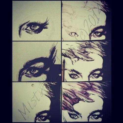 progress shots of my new drawing MistAke_Arts Art Portrait Todays Hot Look