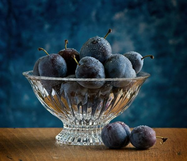 Plums in a
