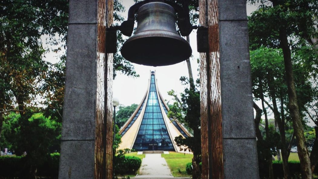 Church Tunghai University Taiwan Design Built Structure Tree Architecture Building Exterior Low Angle View Horizontal Sky Top