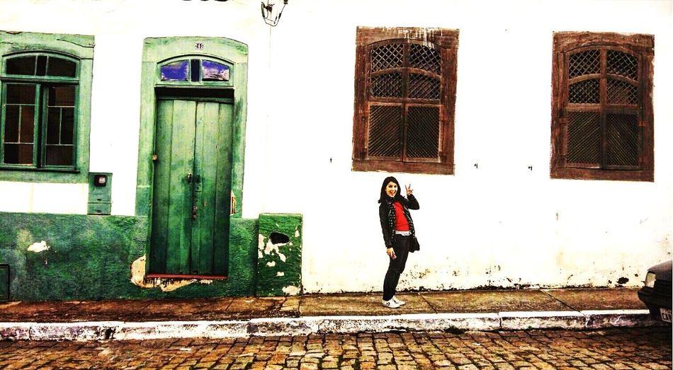 Old Buildings Old City Small Hobbit Green Beautiful Contrast Windows Door
