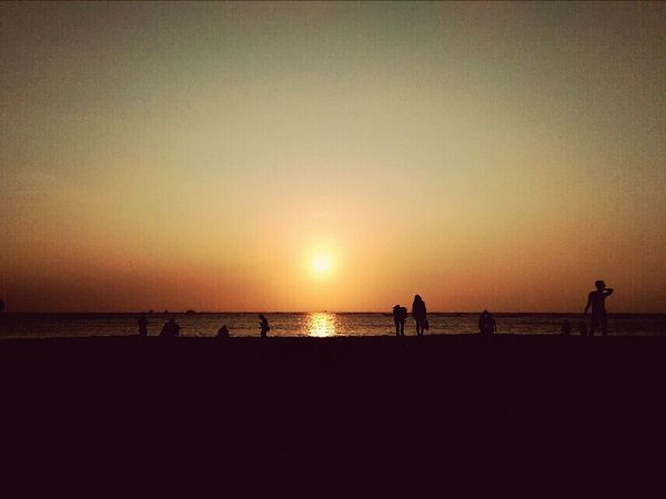 沙灘?夕陽?海?,女孩兒fever狀態on!Life Is A Beach Sunset With My Bestie <3 Happyday @ Tainan MyBirthday Smile:) Nature Lying Around Sand & Sea