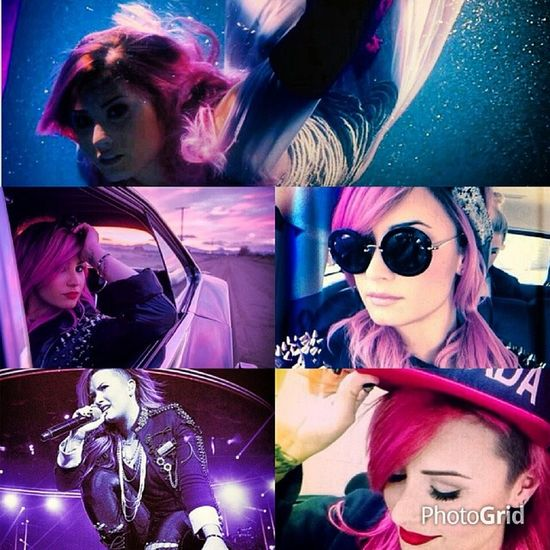 DemiLovato Lovatics the Best  Singer  demifollowers pink neonlights neon like