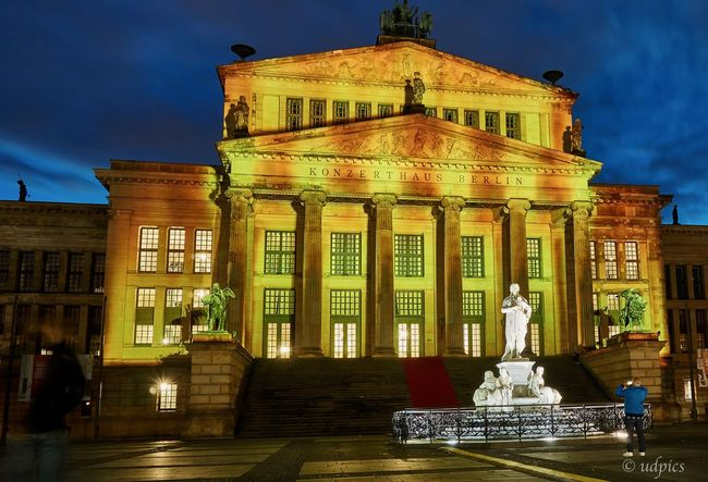 Konzerthaus Berlin Architectural Column Architecture Building Exterior Built Structure City Illuminated Night No People Outdoors Sculpture Sky Spirituality Statue Travel Travel Destinations
