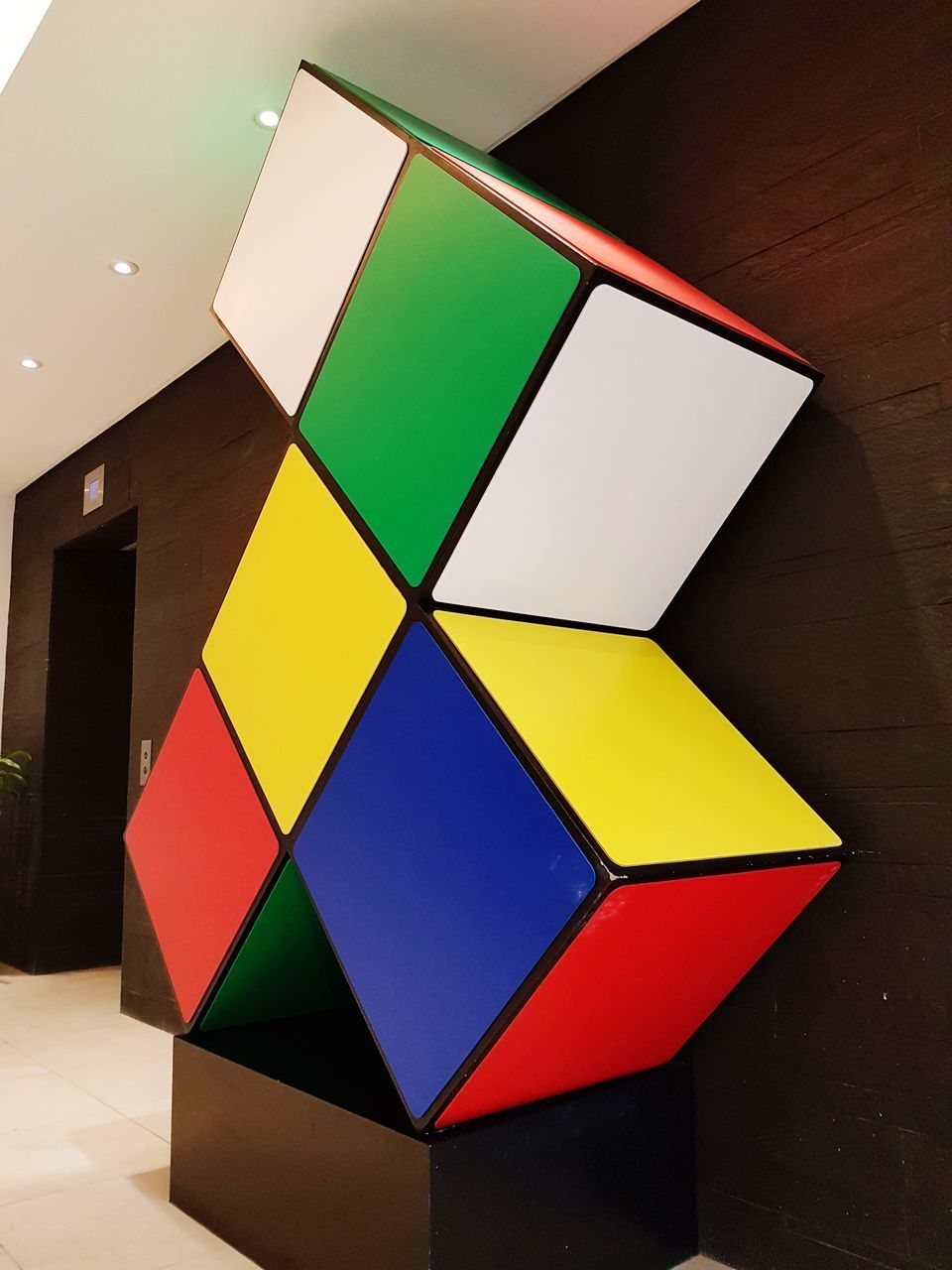 multi colored, geometric shape, indoors, shape, high angle view, no people, built structure, architecture, close-up, day