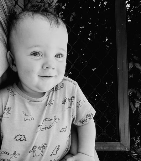 Sweet child of mine Babyboy Headshot SweetChildOfMine😘 Happiness Love Family Outdoors Blue Eyes Perthlife Perthisok Garden Summerdays  Childhood Child Children Only Innocence Portrait One Person Looking At Camera Cute Smiling