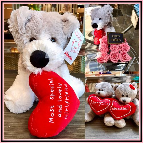 Valentine's Day 🐶❤️🐻 Cocodesfleurs Toys Lovehearts Valentinesday Shop Cute Animals Love Flowers