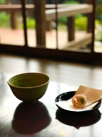 Tea time Copyspace Copyspace Matcha Japanese Dessert Food And Drink Food Bowl Healthy Eating Asian Food Freshness Table Japanese Food Green Tea Focus On Foreground Tea Cup Still Life Snack Tea