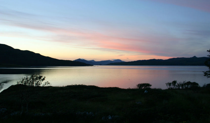 Sunset on Loch Linnhe. Beauty In Nature Loch Linnhe Mountain Nature Scenics Scotland Sunset