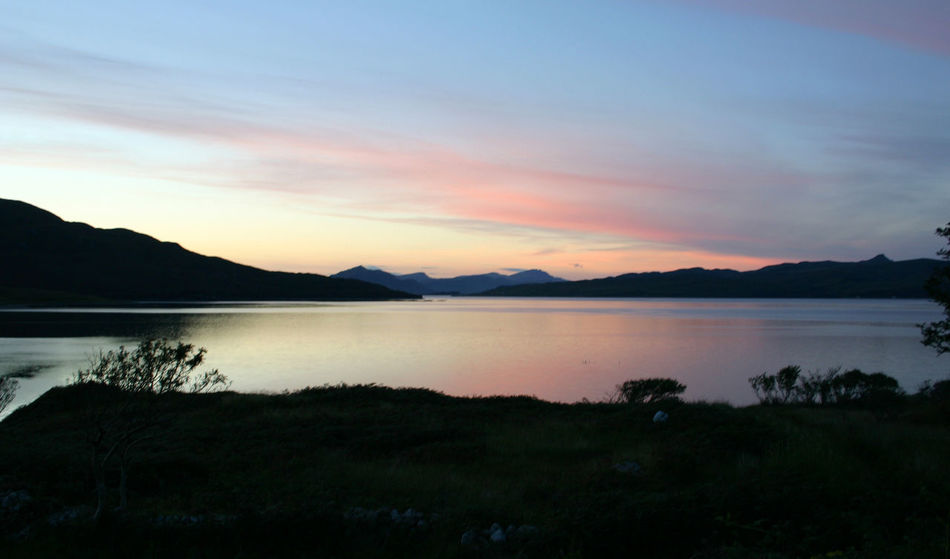 Sunset on Loch Linnhe. Beauty In Nature Loch Linnhe Mountain Nature Scenics Scotland Sunset