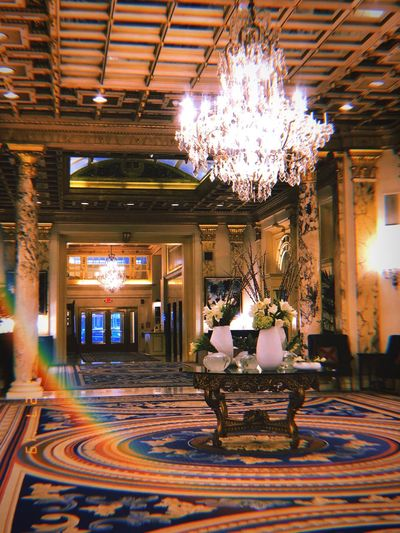 Interior Design New England  Boston Hotel Flowers Architecture Indoors  Built Structure Decoration Building Illuminated Ceiling Chandelier Luxury Ornate Design Flooring Pattern No People