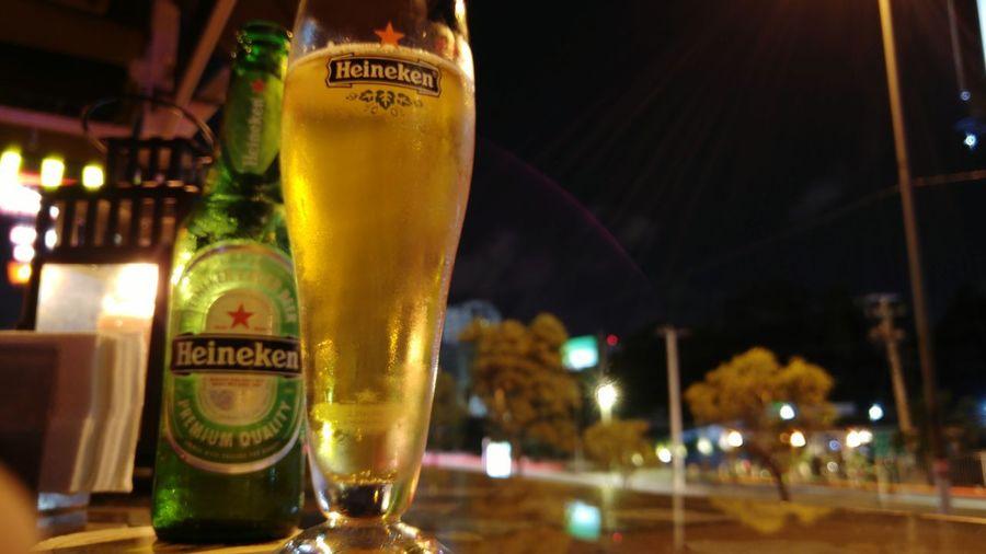 Heineken Beer Bar Santo Domingo Dominican Republic Focus On Foreground Pilsener Biergarten Green