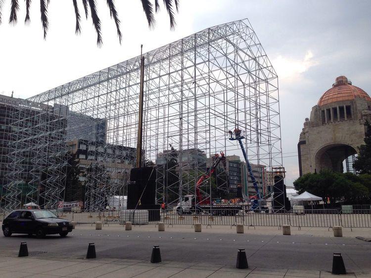 Montaje Replica  CapillaSixtina Escala MonumentoALaRevolucion Ciudaddemexico joycomunicacion