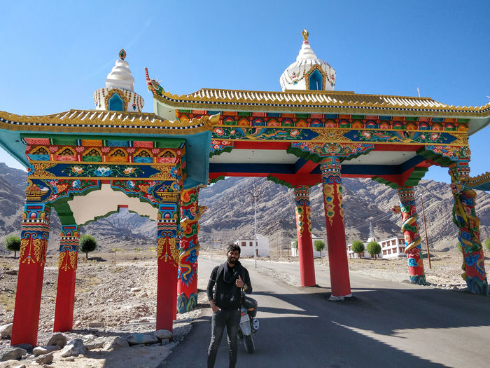 Gates of hemis..!! Leh Leh Ladakh Ladakh Ladakhdiaries Leh Ladakh India City King - Royal Person Politics And Government Clear Sky History Multi Colored Sunny Sky Architecture Gate Palace City Gate Entryway Royalty
