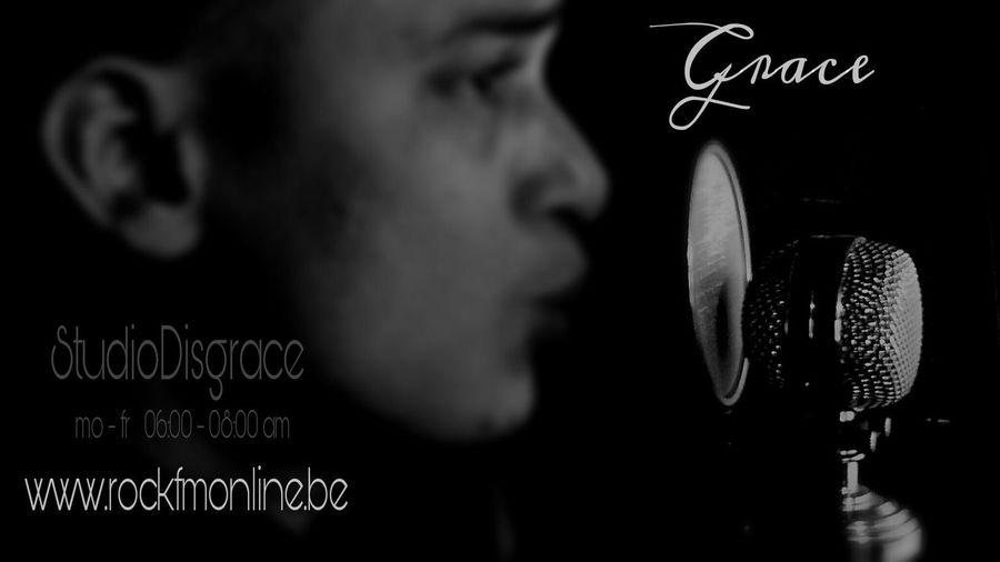 Portrait Of A Friend Radio DJ Grace StudioDisgrace Rockfmonline.be 06:00-08:00am RadioStation Business Card Design by Nefelibata