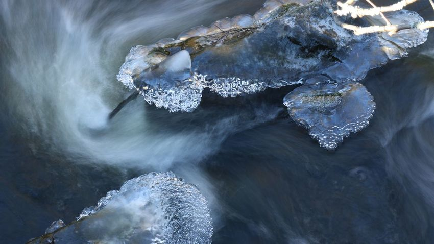 Longexposure Ice Water Motion Beauty In Nature No People Sea Rock High Angle View