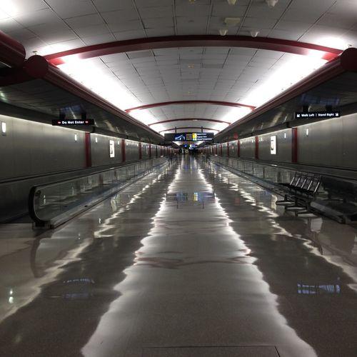 Empty Walkway At Airport