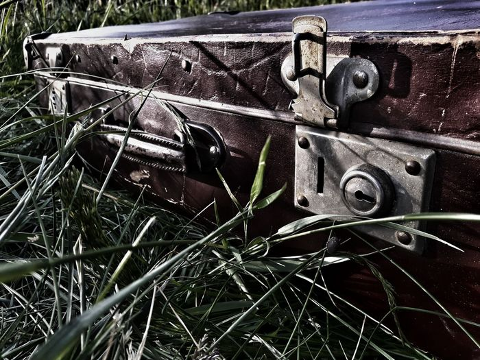 Old suitcase Metal Outdoors Close-up Day Suitcase Briefcase Luggage Vintage Suitcase Old Suitcases Vintage Luggage Walizki