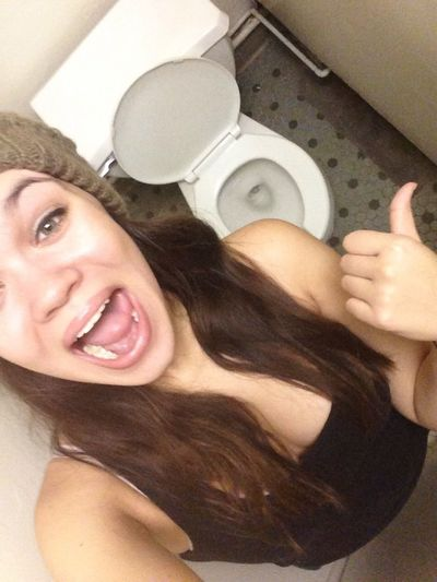 Cute toilet, right? It was 3 am & I was hyper ✋