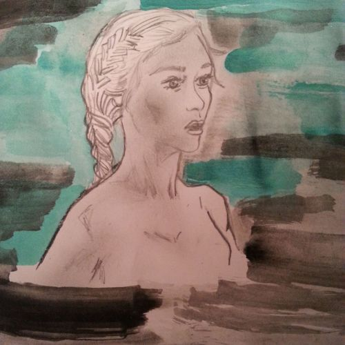 Watercolors  Drawing Daenerystargaryen Gameofthrones