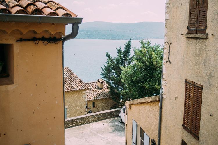 France Provence Architecture Building Built Structure Lac De Sainte-croix Lake Outdoors Roof Roof Tile Southern Water