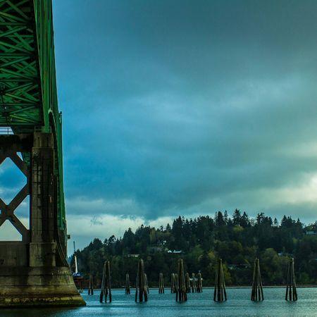 Under The Bridge Oregon Coast Sunset #sun #clouds #skylovers #sky #nature #beautifulinnature #naturalbeauty #photography #landscape North Bend Coos Bay Jewell Photography Bay Area